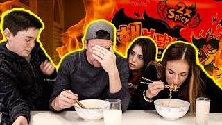 NUCLEAR FIRE NOODLE CHALLENGE!! - 2X SPICY!!