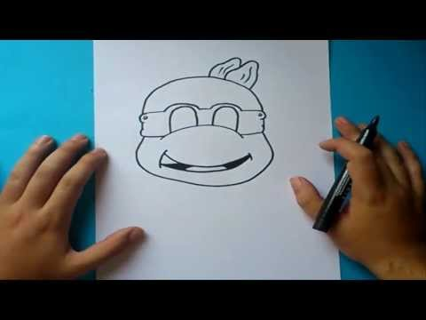 Como dibujar a las tortugas ninja paso a paso | How to draw teenage mutant ninja turtles