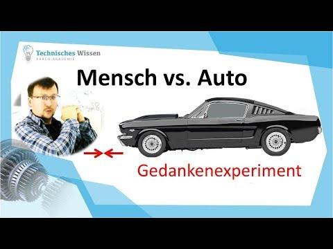 Mensch vs. Auto!  # das ist möglich - technische Mechanik