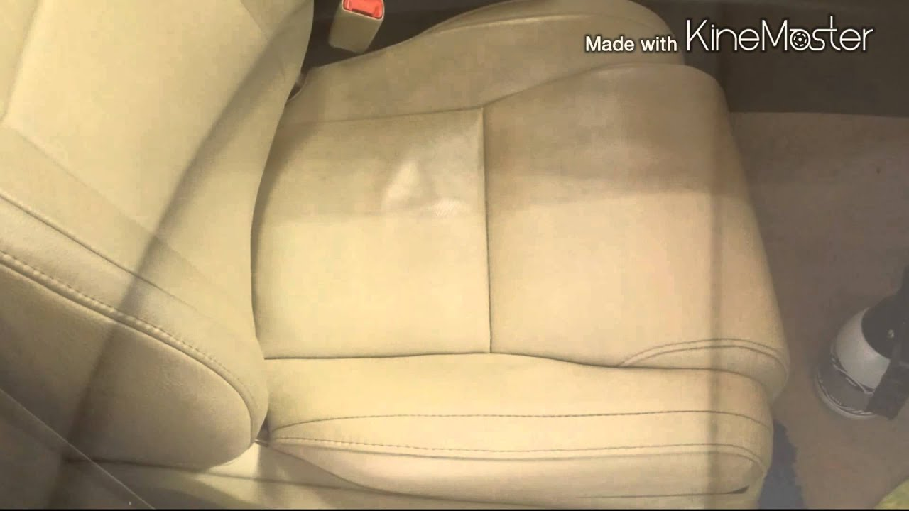 Before After Leather Seat Clean Auto Detailing Youtube