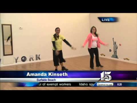 5/14/13 Amanda Live dancing at Southeast Dance Center - Good Morning Carolinas