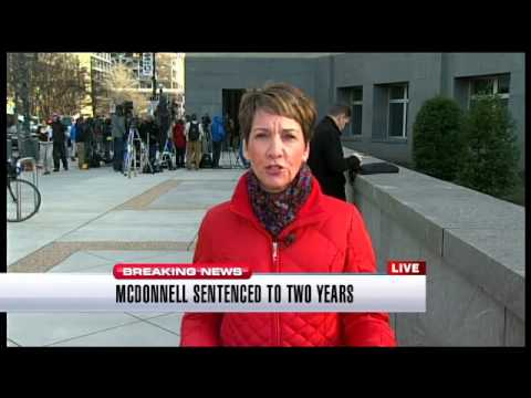 Bob McDonnell sentenced to two years in prison for corruption