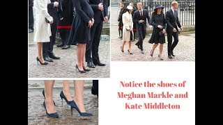 People have noticed something strange about Meghan Markle and Kate Middleton's shoes