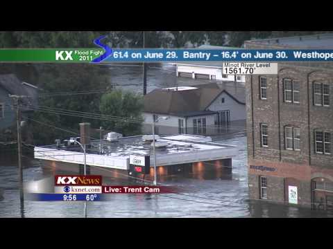 Minot, ND Flood - KX News Live Coverage - June 25, 2011