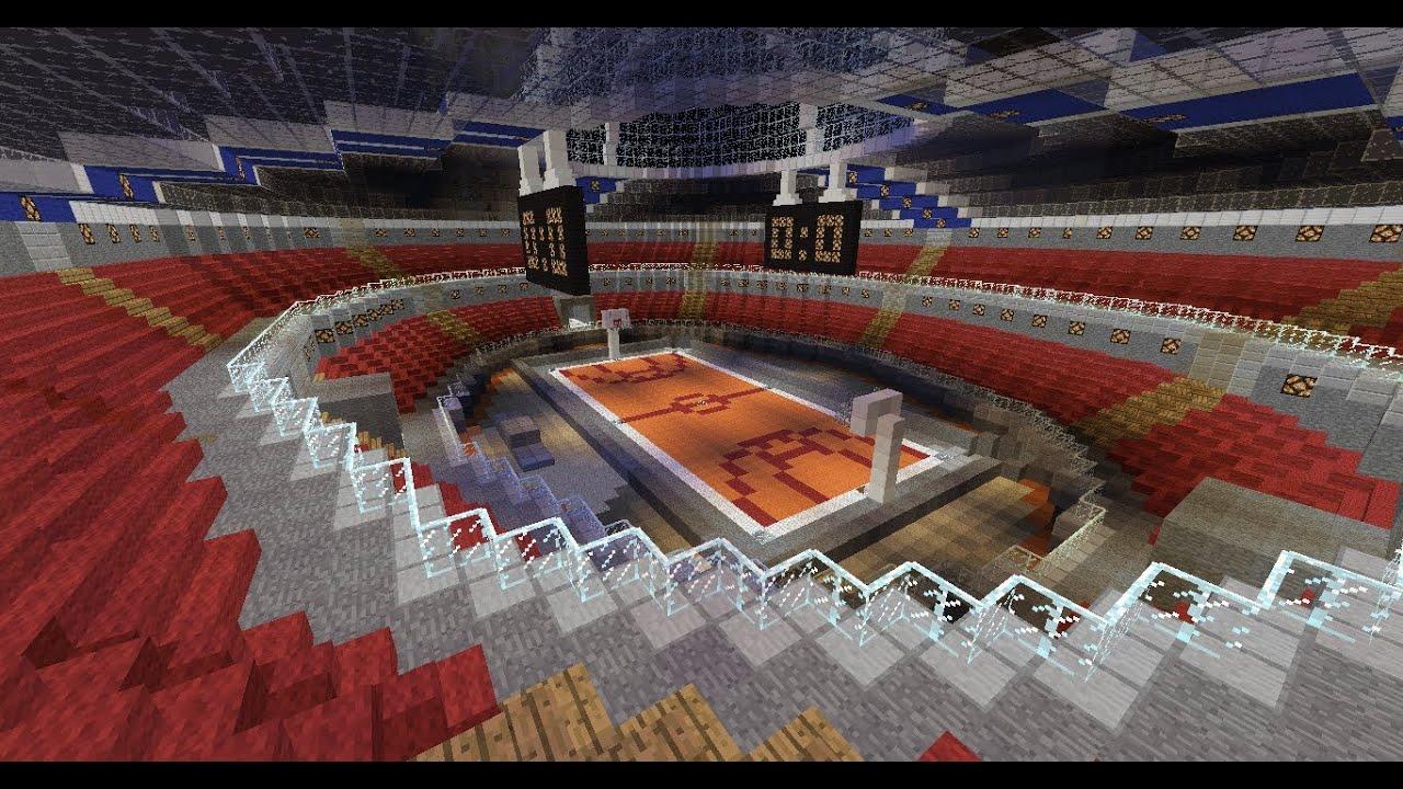 stade de basket minecraft - YouTube