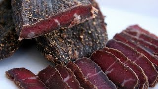 Making Traditional South African Biltong, beef jerky