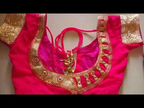 Street Tailors are Awesome || Latest Patch Work Designer Back neck Blouse Designs