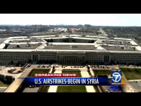 Pentagon: U.S., partners begin airstrikes in Syria
