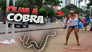 OLHA A COBRA - PEGADINHA | SNAKE PRANK (ft  howtoPRANKitup)