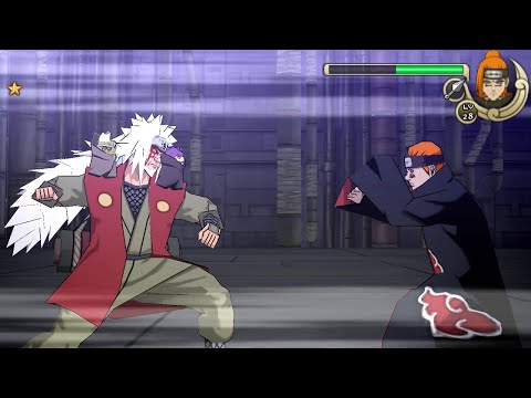 Naruto Shippuden Ultimate Ninja Impact Walkthrough Part 32 Sage Mode Jiraiya Vs Pain (60 Fps) video