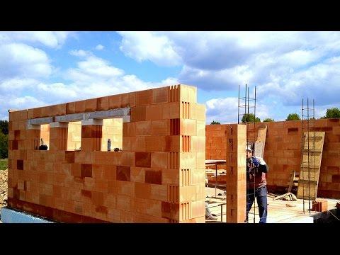 Budowa domu. fundament. Full HD. Film 12 Murowanie porotherm dryfix 4