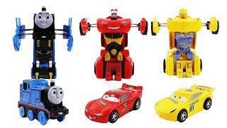 Disney cars and Thomas & Friends fake Transformers Toys for kids - McQueen  Thomas the tank engine
