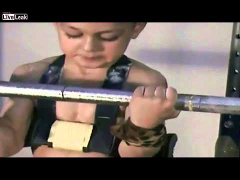 The Strongest Kid in the World IN Weightlifting