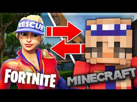 5 Fortnite Skins in Minecraft! (Top Minecraft Skins)