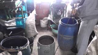 Diy prepare mixture (slurry) for briquettes