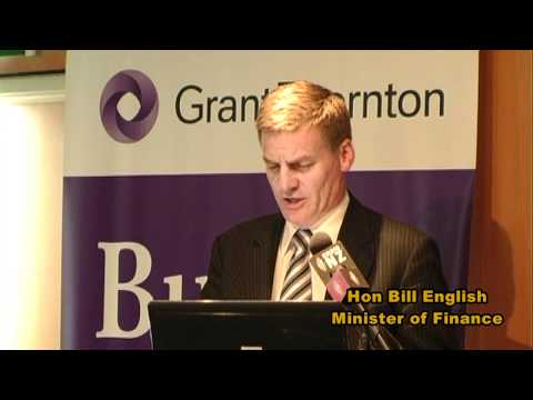 NZ Minister of Finance comments on his 2011 Budget, earthquake recovery and export growth