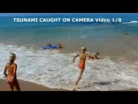 TSUNAMI CAUGHT ON CAMERA Video 1 Of 8
