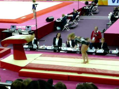Giulia Steingruber (Switzerland) Vault 2- 2012 olympic test event qualifier. 11.01.2012