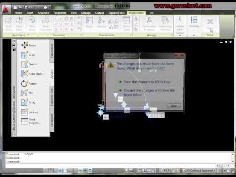 autocad 2010 parametre, dinamik blok, area komutlar�