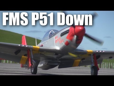 FMS P51 Mustang crash (RC model plane)