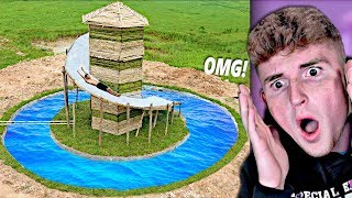 He Made The Best SECRET Underground Water Slide..