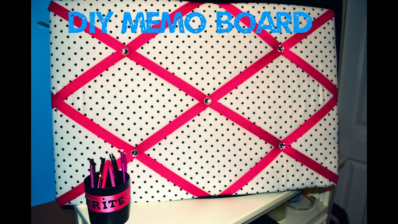 diy dorm head board fabric memo board youtube. Black Bedroom Furniture Sets. Home Design Ideas