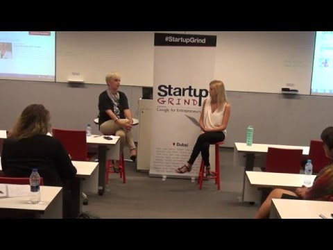 Amelia Gundersen Herman interviews Clare Woodcraft Scott CEO of Emirates Foundation at StartupGrind