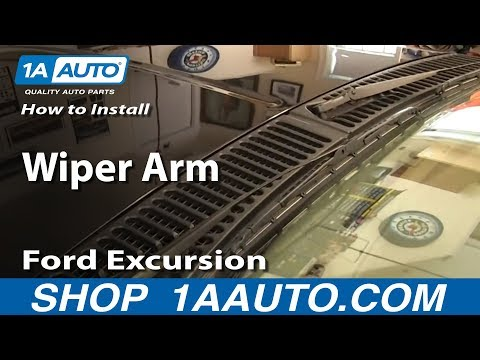 How To Install Replace Wiper Arm 2000-05 Ford Excursion 99-07 F250 F350