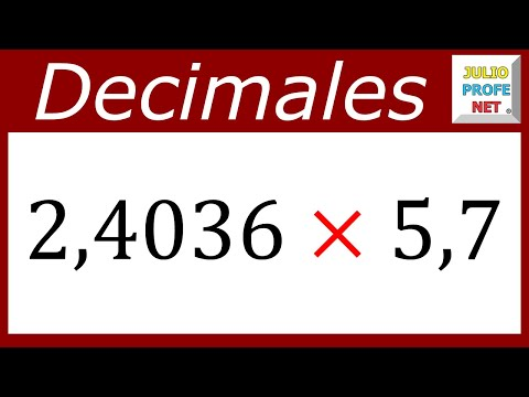 Multiplicación de números decimales-Multiplication of decimal numbers