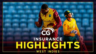 Highlights | West Indies vs South Africa | Pollard & Bravo Shine in Win | 4th CG Insurance T20I 2021