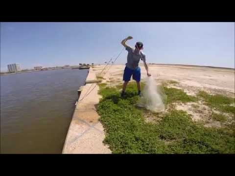 Biloxi fishing with a Castnet