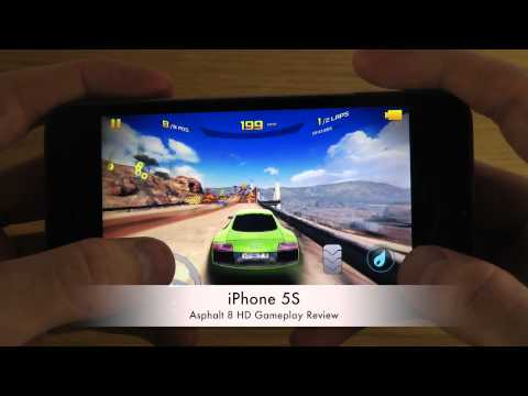 Asphalt 8 iPhone 5S HD Gameplay Review