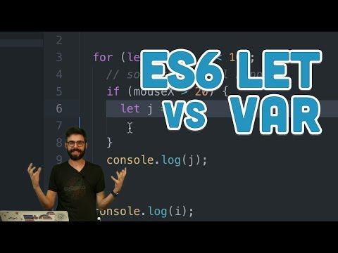16.1: let vs var - Topics of JavaScript/ES6