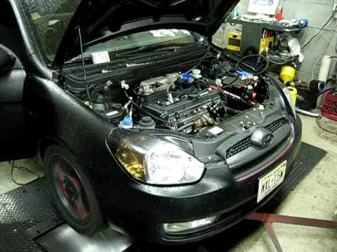 2007 Hyundai Accent Turbo Dyno Run Youtube