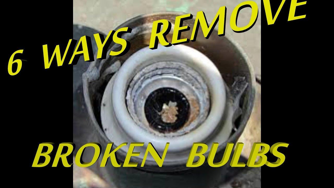 6 Ways To Remove Broken Light Bulb From Socket Youtube