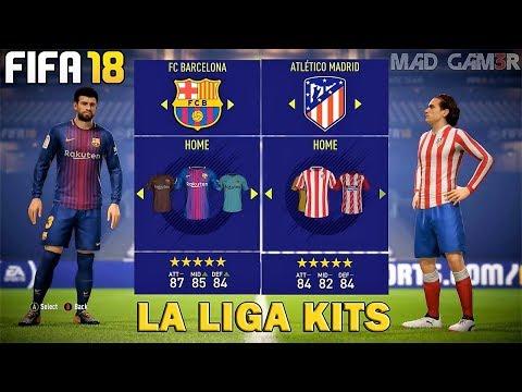 FIFA 18 - Liga BBVA Ratings & Kits FT. Barcelona , Real madrid etc