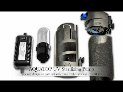 AQUATOP Aquarium Internal Pump w/ UV Sterilization SP5UV SP7UV