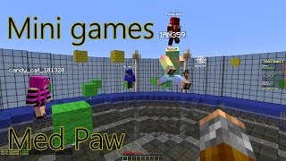 DANSK MINECRAFT:: Minigames med Paw :: PARTYGAMES