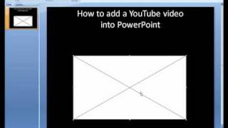 PowerPoint 2007- How to insert a YouTube Video into PowerPoint
