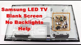 Samsung LED TV Blank Screen & No Backlights Basic Troubleshooting Help