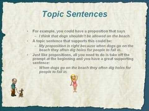 Thesis Statement Topic Sentence