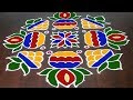 Bhogi Kundala Muggu || Pongal Designs With 19 x 3x 3 Dot || Pongal  Pot Kolam || Fashionn World
