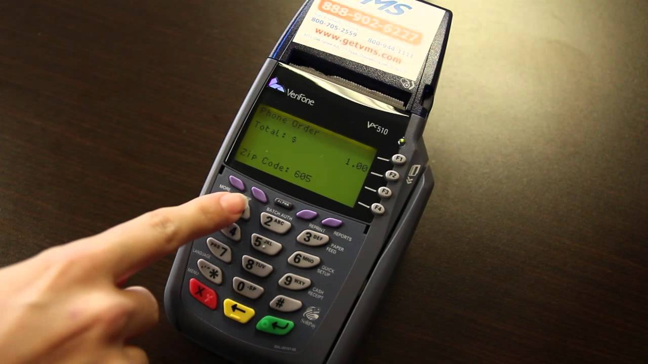 VeriFone Vx510 - Instructions & How To Use Your Credit Card Machine - YouTube