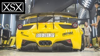 Close-Up Fitting A Ferrari 458 Italia w/ Liberty Walk | XSX