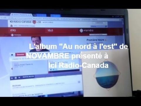 "L'album ""Au nord à l'est"" de NOVAMBRE à Radio-Canada"
