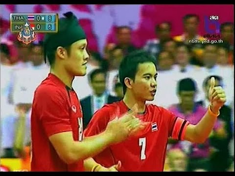 Thailand - Indonesia Sepak Takraw King's Cup 2013 Final Match Men's Team (b) video
