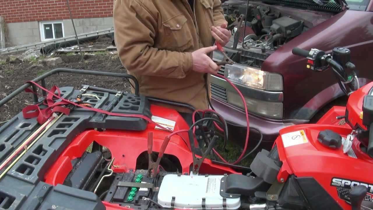 Frigged Over By The Atv Battery Again Youtube