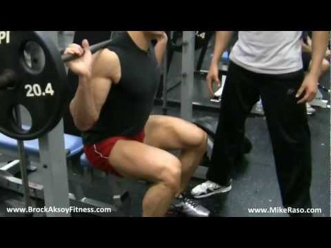How to Grow your Legs with this exercise (Heavy Smith Machine Squats) - Brock Aksoy & Mike Raso Image 1