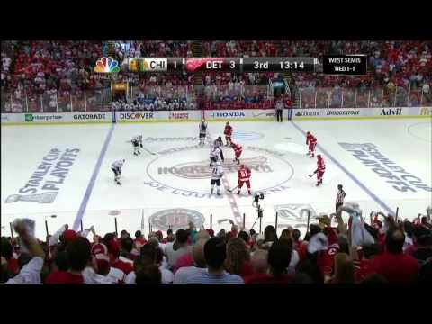 Pavel Datsyuk knuckleball wrister goal 3-1 May 20 2013 Chicago Blackhawks vs Detroit Red Wings NHL