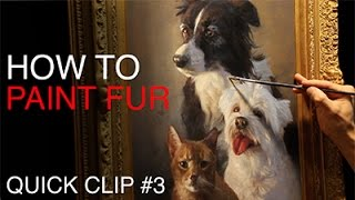 Painting PET PORTRAITS / How To Paint Fur!
